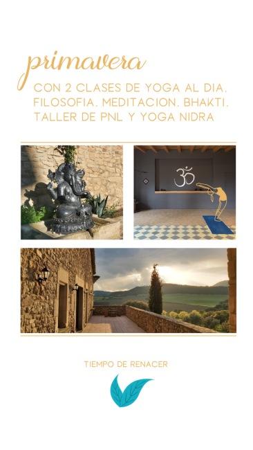 Retiro de yoga Semana Santa Barcelona